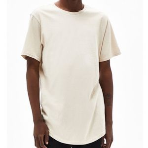 ☀️Pacsun Scallop Fit Tan/cream t-shirt